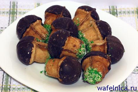 Грибочки печеные в орешнице