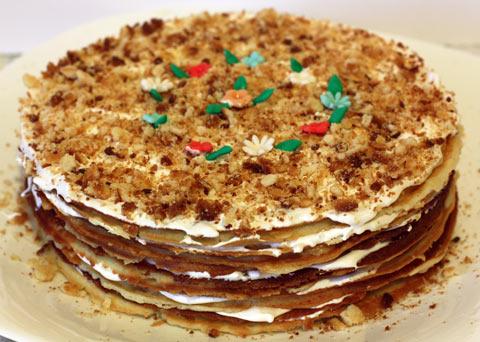 Вафельный торт в домашних условиях