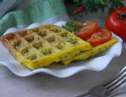 Вафли с кабачком и сыром