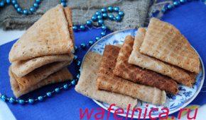 Миниатюра к статье Тонкие ажурные вафли с какао